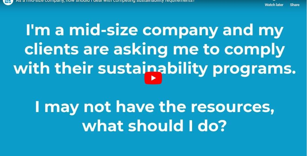how to comply with competing sustainability requirements